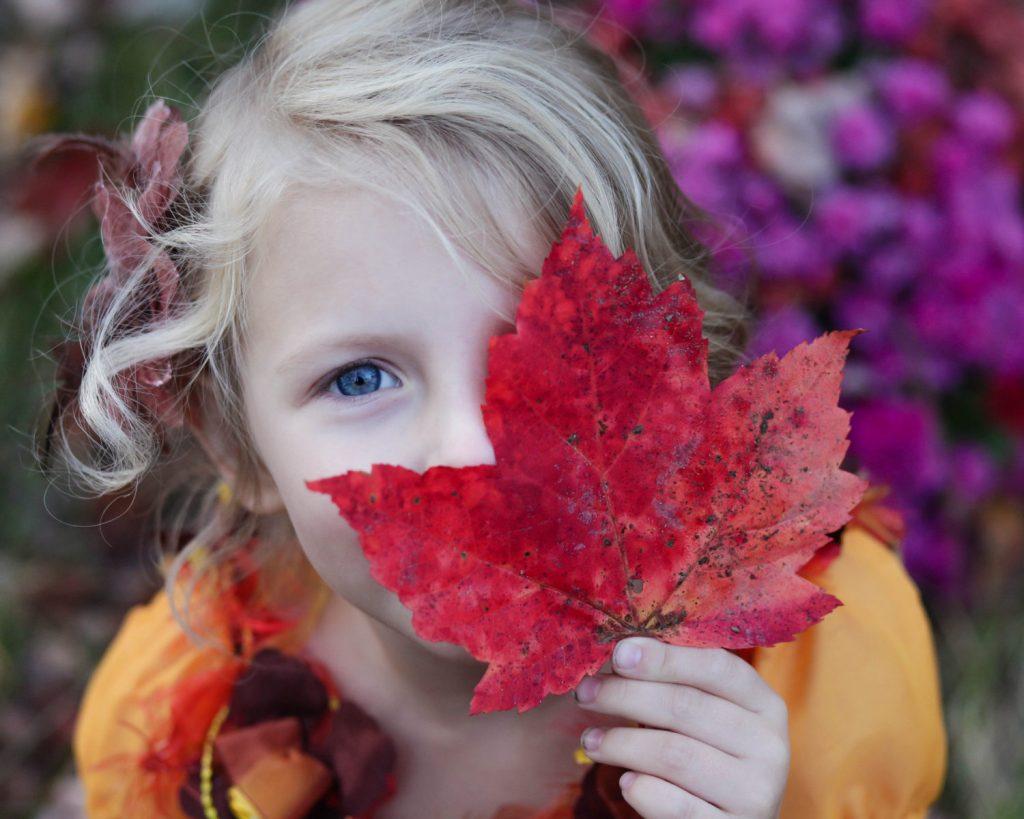 dítě. podzim, listí, oblečení