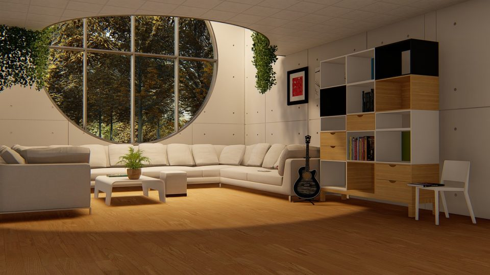 Round Window Living Room Sofa Set  - Muntzir_Mehdi / Pixabay