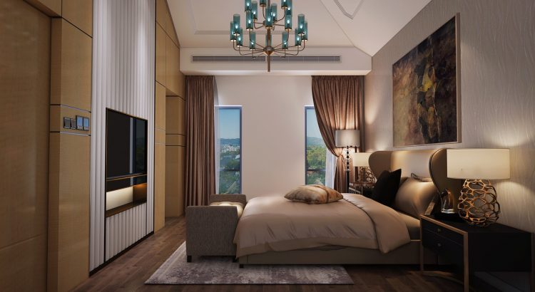 Villa Bedroom Modern Design  - 纹叶 / Pixabay