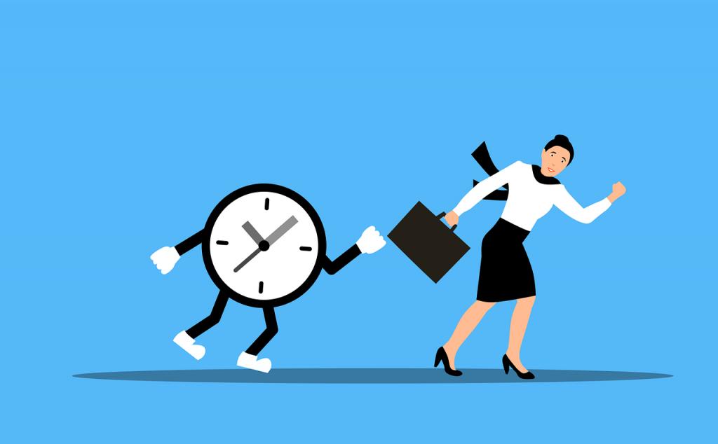 Woman Clock Run Hurry Deadline  - mohamed_hassan / Pixabay